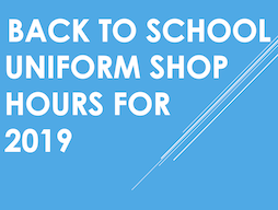 Uniform Shop/Finance Window 2019