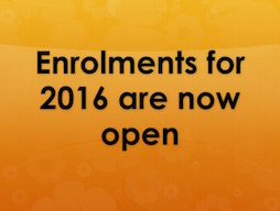 Student enrolments are now open for 2016